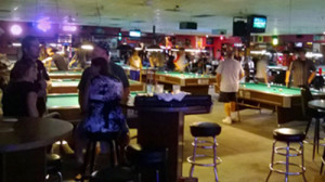 Jester's Billiards, the best sports bar for pool and billiards in Phoenix, at the intersection of two main streets, Gilbert and Baseline Rds.