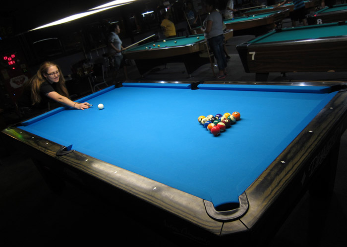 diamond pool table - billiards darts and craft beers at Jester's Billiards