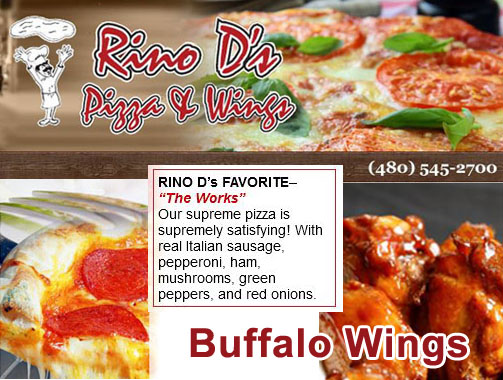 Rino D's Pizza At Jester's Billiards