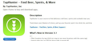 Download the Taphunter app at the Apple Store