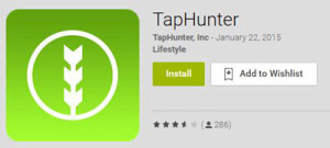 Download Taphunter app at Google Play