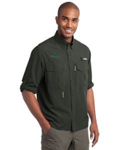 Jester's Billiards Eddie Bauer Long Sleeve Performance Fishing Shirt