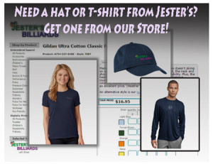 hats t- shirts swag billiards darts and craft beers at Jester's Billiards