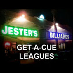 GET-A-CUE 8-Ball Leagues at Jester's Billiards