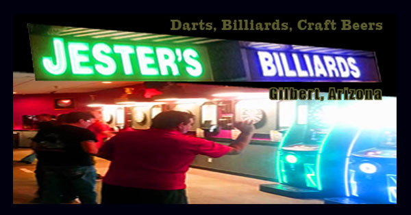 Play Darts like a Pro at Jester's Billiards in Gilbert, Arizona
