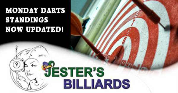 Darts Standings at Jester's Billiards