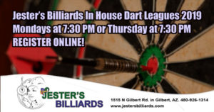 Jester's Billiards In House Dart Leagues 2019