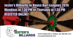 Jester's Billiards In House Dart Leagues 2019
