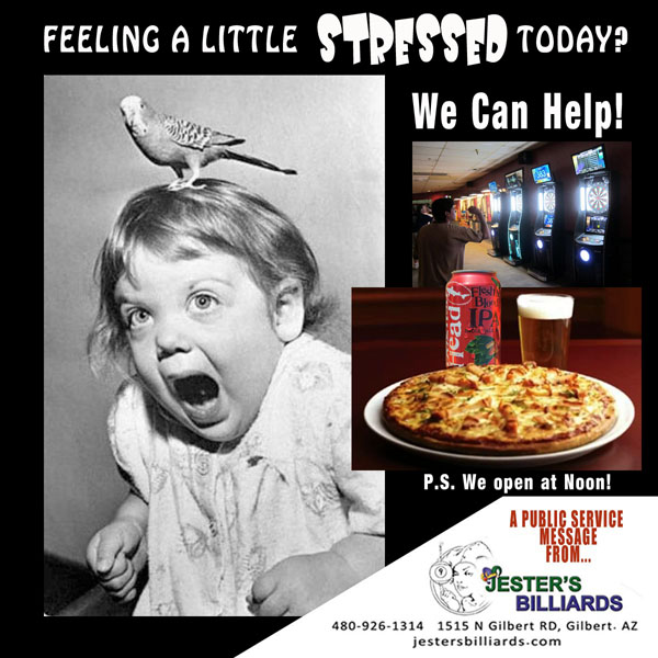 Jester's Billiards and Rino D's Pizza and Wings