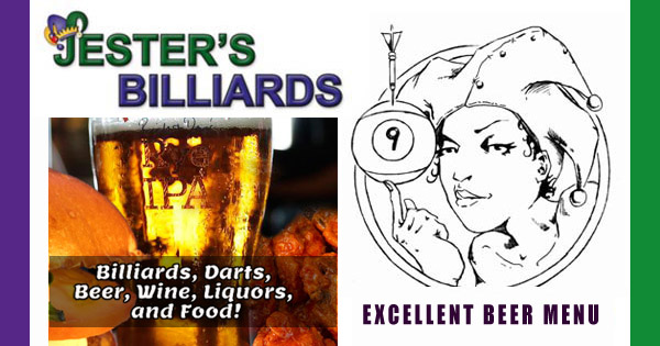 Great Beers at Jester's Billiards