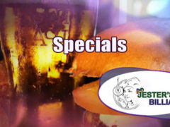 Specials at Jester's Billiards