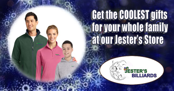 Great clothing and more at the Jester's Billiards store
